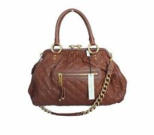 Marc Jacobs Stam Handbag Brown Satchel Gold Hardware Chains Cecilia NWT $1350