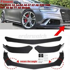 Carbon Front Bumper Lip Protector Chin Body Spoiler Splitter For Audi A3 A4 A5