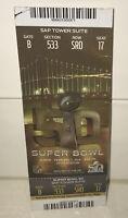*GOLD* SAP Towers Suite Super Bowl 50 GAME USED Full Ticket Stub Von Miller MVP