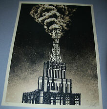 Oil & Gas Building Shepard Fairey Poster Obey Giant Print Signed and Numbered