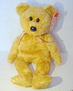 Ty Beanie Baby Cashew Retired Bear Birthday  April 22 2000