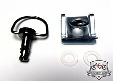 QUICK RELEASE D-RING ¼ TURN RACE FAIRING FASTENERS Black Chrome 17mm Clip Style