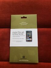 NEW POWER SUPPORT CRYSTAL FILM SET FOR IPHONE 3G/3GS