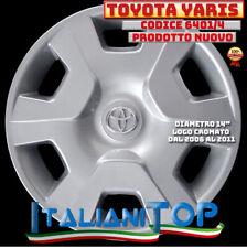 "TOYOTA YARIS Copricerchio Borchia QUATTRO 4 coppa ruota 14"" 6401/4 2006 - 2014"