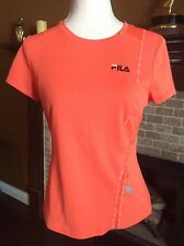 Fila Sport Women's T-shirt - Orange - M - Little Pocket On The Side