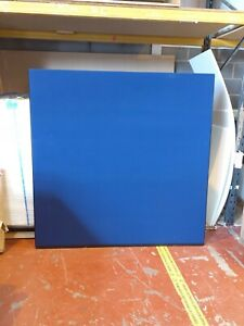 Office Screen Divider Partition 1500mm W x 1500mm H Blue Woolmix