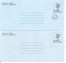 Isle Of Man Year 1982, 20p uprated-24p Air Letter,aerogramme.  Postally Unused