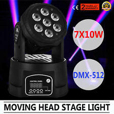 70W RGBW LED Moving Head Stage Light DMX Plastic Show Club DJ Party Light