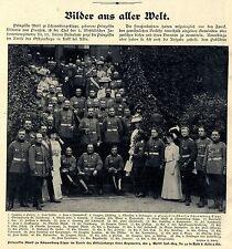 Regimentschefin Prinzessin zu Schaumburg-Lippe im Kreise d.Offizierskorps 1907