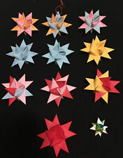 Froebel Moravian Stars CHRISTMAS Holiday ORNAMENTS HANDMADE Set Of 11