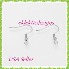20pc 10pr 304 Stainless Steel French Fish Wire Hook Bead & Coil Earrings Finding