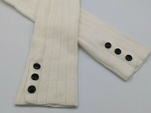 Off-White Leg Warmers With Black Buttons Steve Madden One Size  NWOT