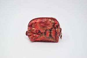Vintage Sharif Women Multicolored Leather Make Up Bag/ Pouch