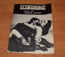 SCORPIONS LOVE AT FIRST STING SONGBOOK