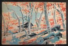 1930s Japan Missionary Art Scene Postcard cover to Washington Dc USA