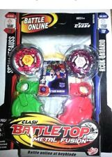 2 pack Battle Top Similar to Beyblade Metal Fusion launcher L-drago, flame