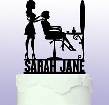 Personalised Hairdresser Cake Topper - Hair Stylist