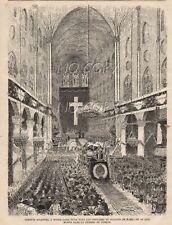 1885 : ILLUSTRATION / GRAVURE : INTéRIEUR CATHéDRALE NOTRE DAME de PARIS