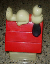 SNOOPY DOGHOUSE BANK  COMPOSITION PLASTER  C. 1970'S  PEANUTS  JAPAN