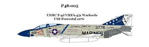 CAM PRO DECAL, 1/48 SCALE, P48-005, F-4J PHANTOM, VMFA-451