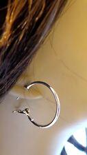 SMALL 1.5 INCH SIMPLE THIN HOOP EARRINGS GOLD OR SILVER TONE HOOP EARRINGS