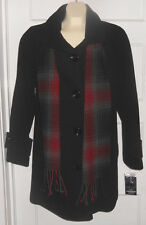 NEW $180 Black WOOL PEA COAT Winter Jacket Mackintosh Peacoat NWT WOMENS S Small