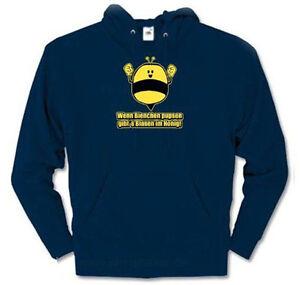 Wenn Bienen pupsen gibt es Blasen im Honig - Imker Kapuzen-Sweat-Shirt  S - XXL