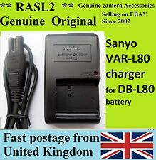 ️ Original Genuine SANYO Battery Charger Var-l80 for Db-l80 Dbl80 - UK SELLER