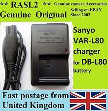 Genuine SANYO Charger VAR-L80 DB-L80 Xacti DMX CG11 CG110 CG100 CS1 GH1 VPC CG21