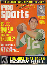 1967 (Jan.) Pro Sports, Football magazine, Joe Namath, New York Jets ~ Fair