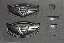 Custom Wing Badge Emblems(Matte Black), fits Genesis Coupe