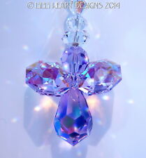 m/w Swarovski Ab Violet Rear View Mirror Angel SunCatcher Lilli Heart Designs
