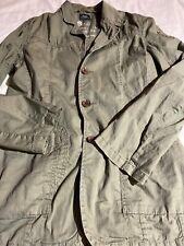 G star raw Denim jacket women's size M military green Cotton Euc