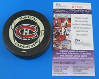 BENOIT BRUNET SIGNED MONTREAL CANADIANS HOCKEY PUCK ~ 2000 GAME PUCK  JSA R37886