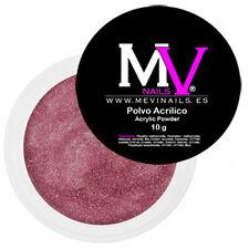 Polvo  Acrilico Rosa con brillo  Profesional MV 10 gr -  Porcelana uñas