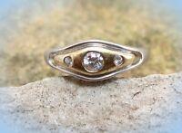 edler ring s925 gg 333 bicolor mit weißtopasen 19mm
