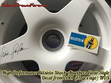 HI PERFORMANCE BILSTEIN SHOCK CLEAR STYLE DECAL STICKER FORD MUSTANG SALEEN GT