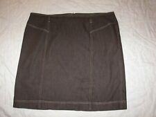 New York Clothing Co. Brown Denim Skirt - Size 20W