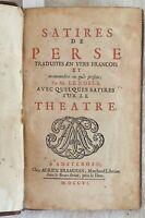 AULO PERSIO FLACCO SATIRES DE PERSE LATINO FRANCESE TRADUZIONE LENOBLE 1706