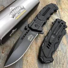 MASTER USA Ballistic Black Plastic & Black Stainless Steel Bolster Pocket Knife