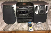 Aiwa NSX-V20 AM/FM Stereo Dual Cassette 3pc CD Changer Bookshelf Home Stereo