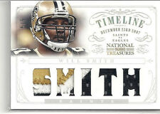 2013 PANINI NATIONAL TREASURES WILL SMITH TIMELINE 4X PATCH JERSEY LOGO 5/5