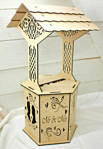 A409 WISHING WELL POST BOX LARGE wedding card donut doughnut wall party hex 4