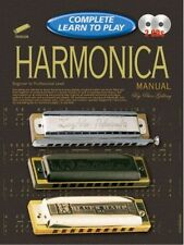 Complete Learn To Play Harmonica Manual Book/CD's - Same Day P+P