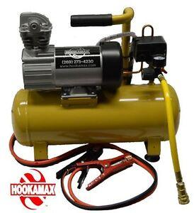 Hookah Diving!  Complete GENUINE Hookamax 12 Volt Hookah with one 100 foot hose!