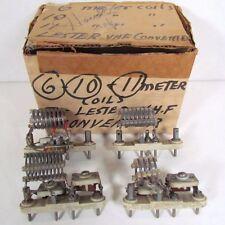 4 Lafayette Lester VHF Converter Coils
