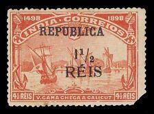 1913 PORTUGUESE INDIA #291a SURCHARGED - MOGH - F/VF - CV $22.50 (ESP#1105)