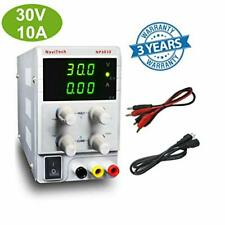 DC Bench Power Supply Variable 30V/10A 3-Digital LED Display Precision Adjust...