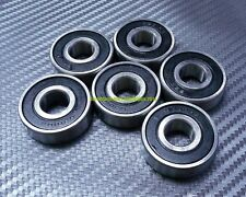[25 Pcs] 6200-2RS (10x30x9 mm) Rubber Sealed Ball Bearings Bearing 6200RS BLACK