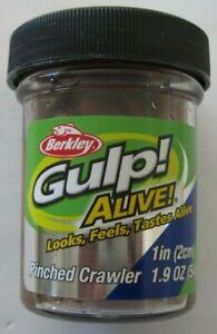 "Berkley Gulp! Alive! Pinched Crawler - 1"" - 1.9 oz. Jar - Nightcrawler"